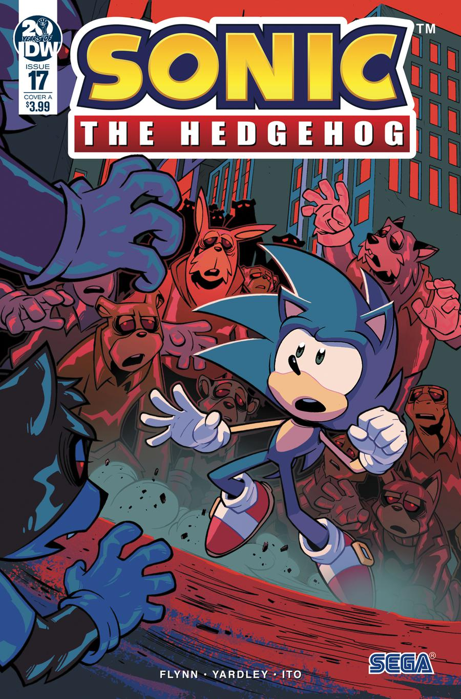 Sonic The Hedgehog Vol 3 #17 Cover A Regular Jack Lawrence Cover