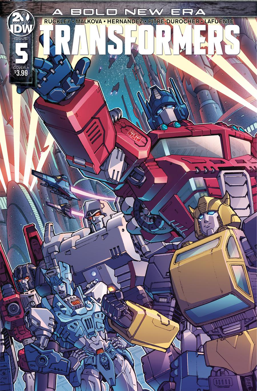 Transformers Vol 4 #5 Cover A Regular Andrew Griffith Cover