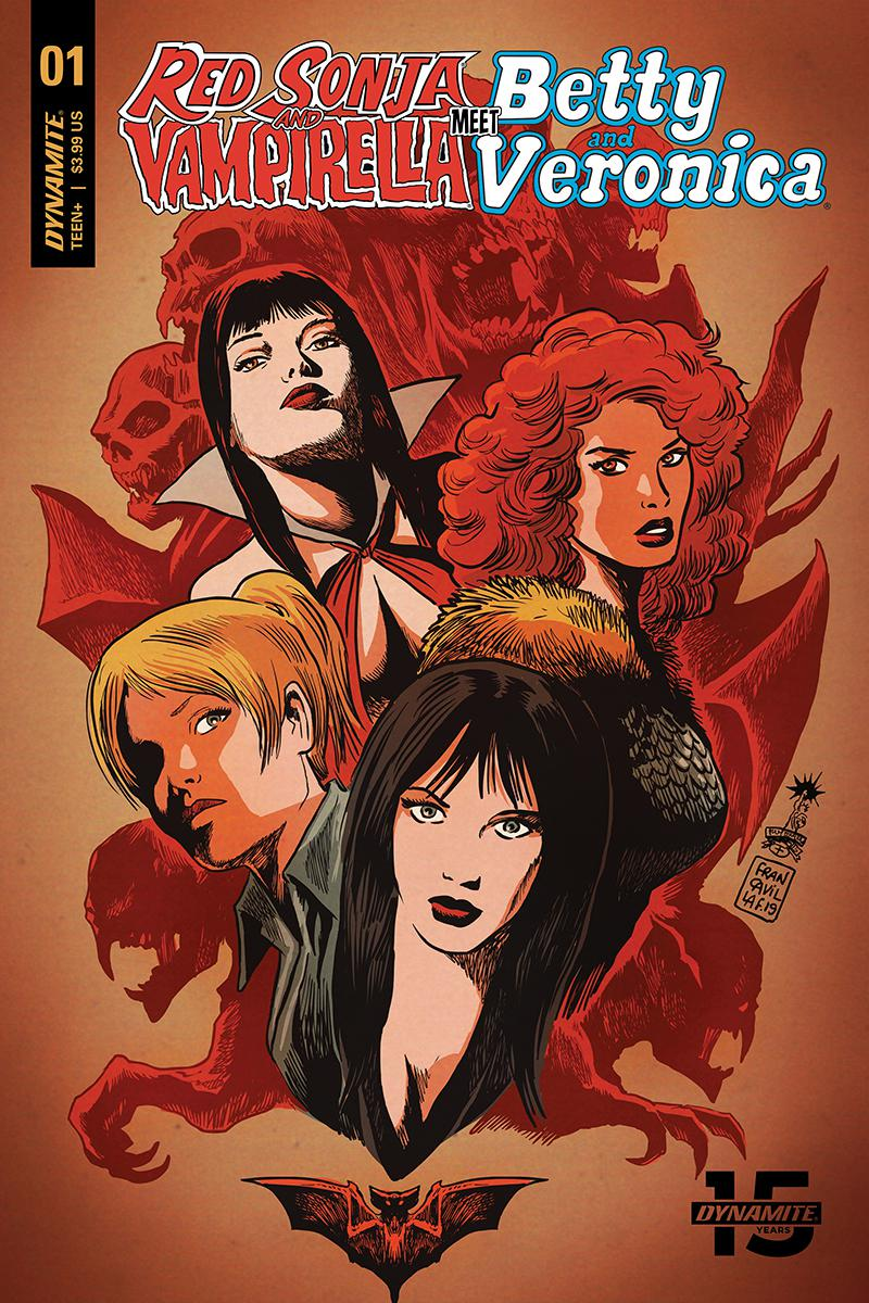 Red Sonja And Vampirella Meet Betty And Veronica #1 Cover B Variant Francesco Francavilla Cover