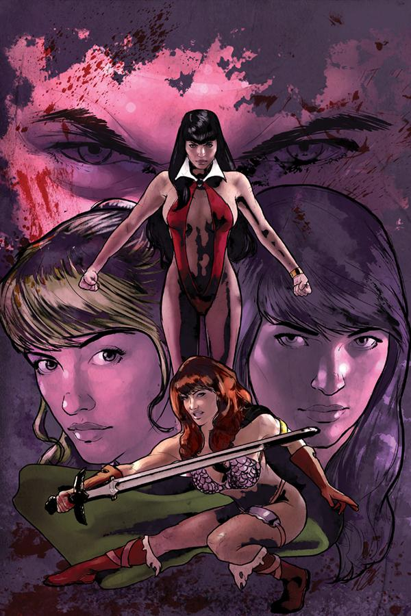 Red Sonja And Vampirella Meet Betty And Veronica #1 Cover P Limited Edition Cat Staggs Virgin Cover