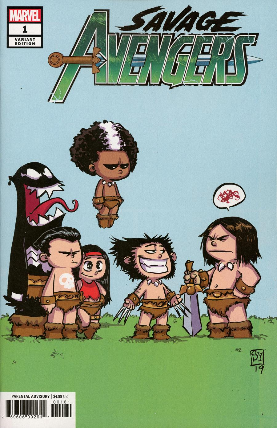 Savage Avengers #1 Cover C Variant Skottie Young Cover