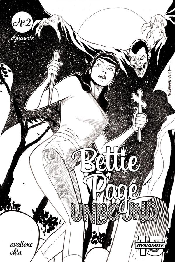 Bettie Page Unbound #2 Cover H Incentive David Williams Black & White Cover