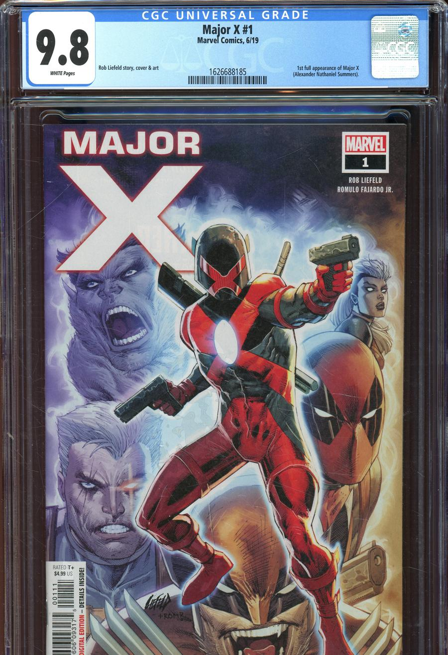 Major X #1 Cover C DF CGC Graded