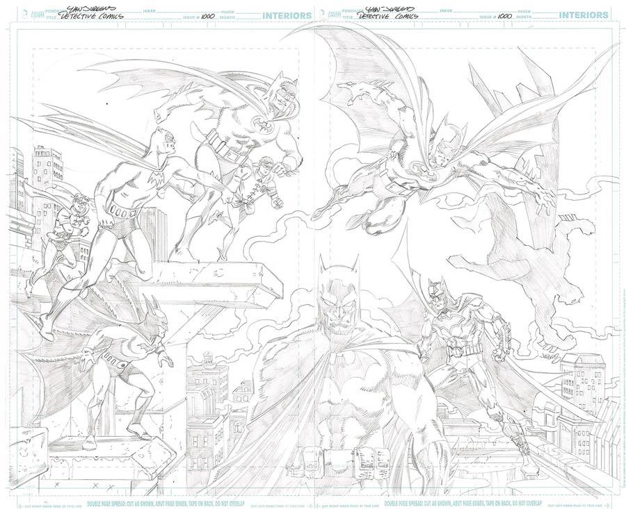 Detective Comics Vol 2 #1000 Cover Z-G DF Exclusive Dan Jurgens Pencil Art Variant Cover