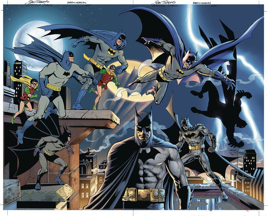 Detective Comics Vol 2 #1000 Cover Z-I  DF Exclusive Dan Jurgens & Kevin Nowlan Variant Cover Gold Signature Series Signed By Kevin Nowlan