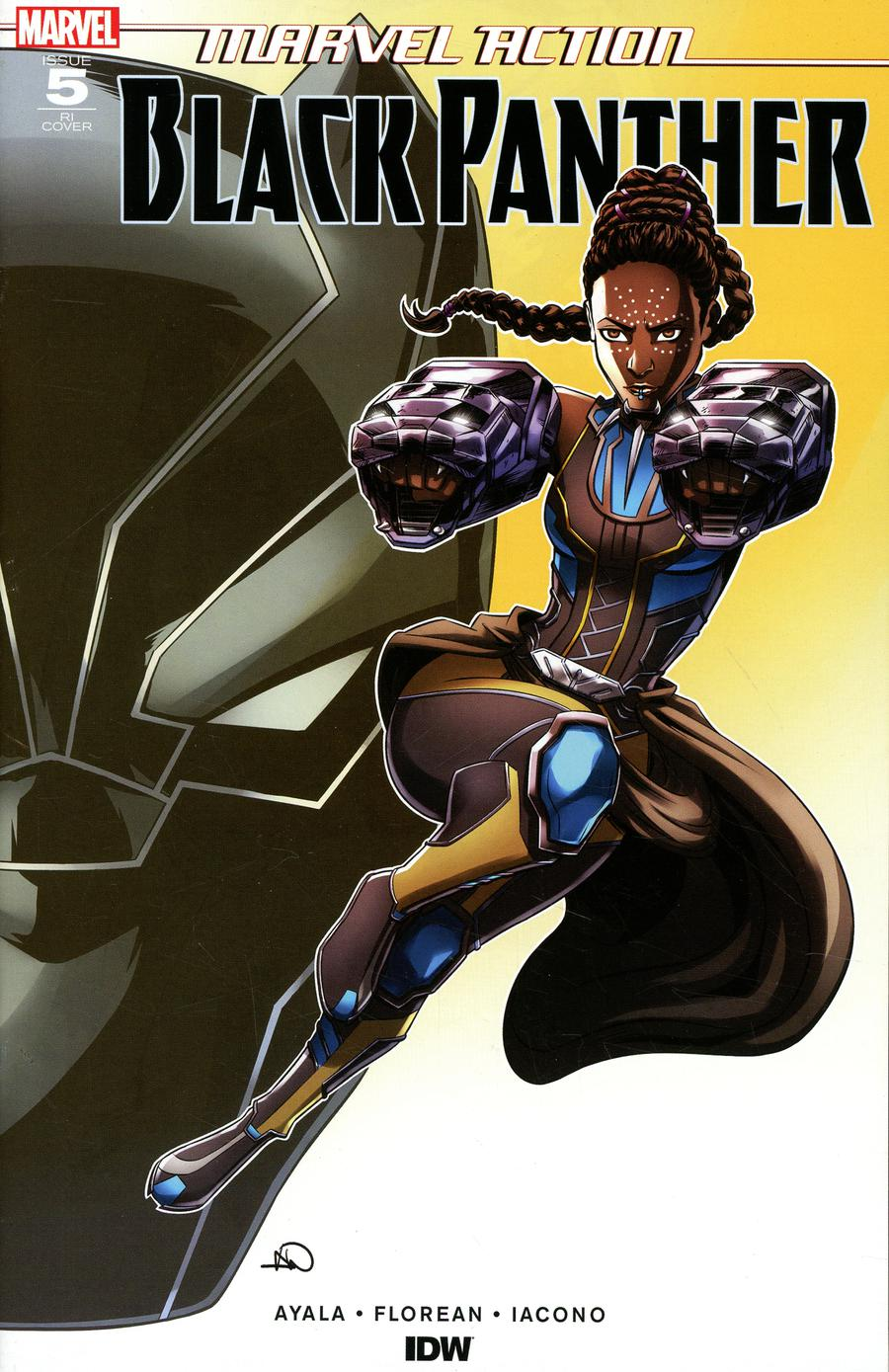 Marvel Action Black Panther #5 Cover B Incentive Ashley A Woods Variant Cover