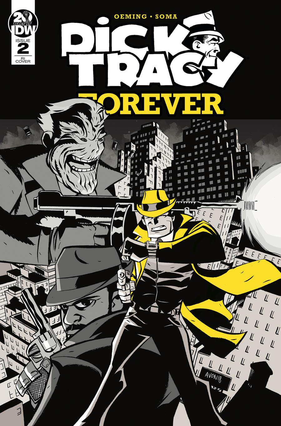 Dick Tracy Forever #2 Cover B Incentive Michael Avon Oeming Variant Cover
