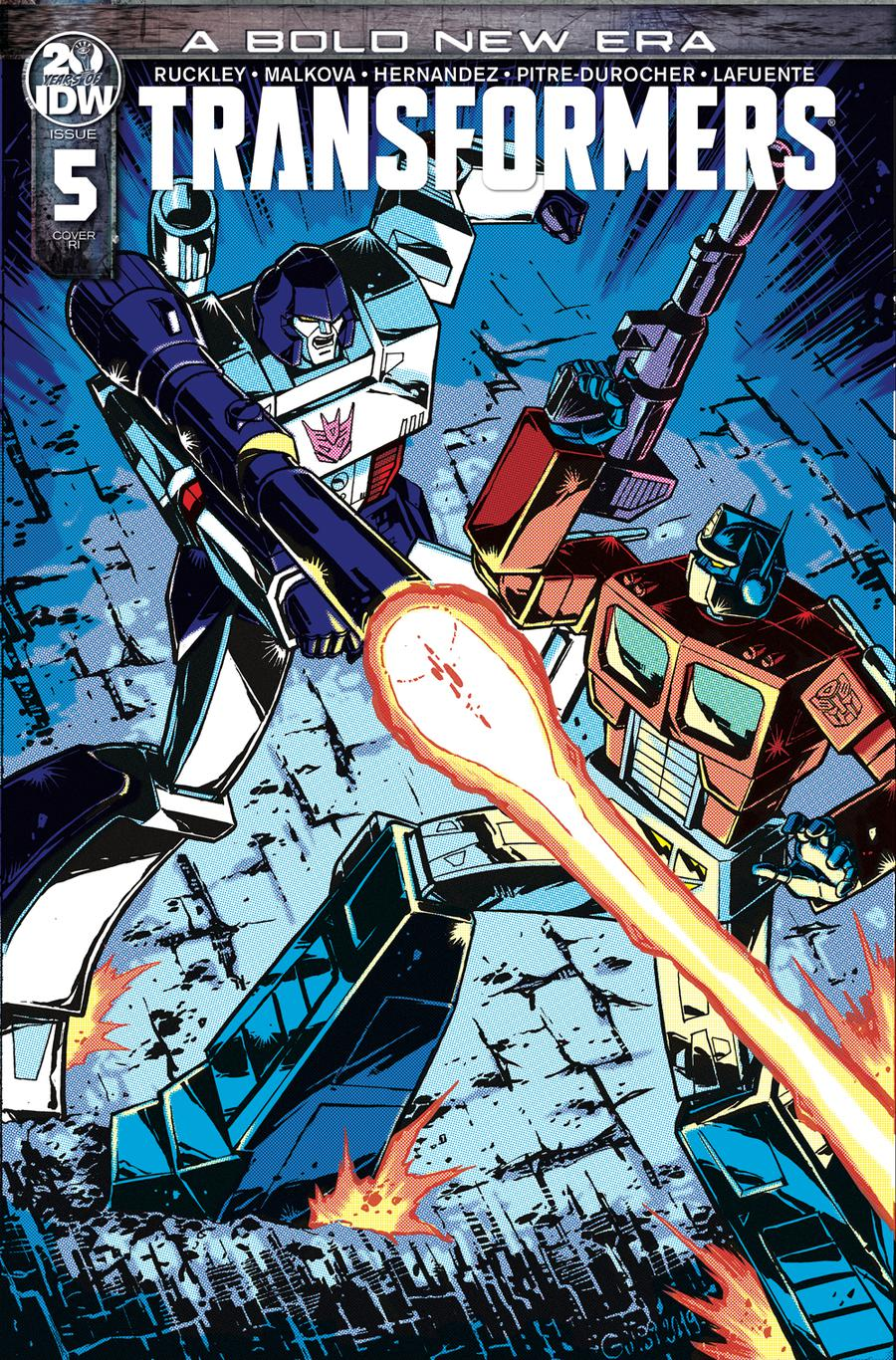 Transformers Vol 4 #5 Cover C Incentive Guido Guidi Variant Cover