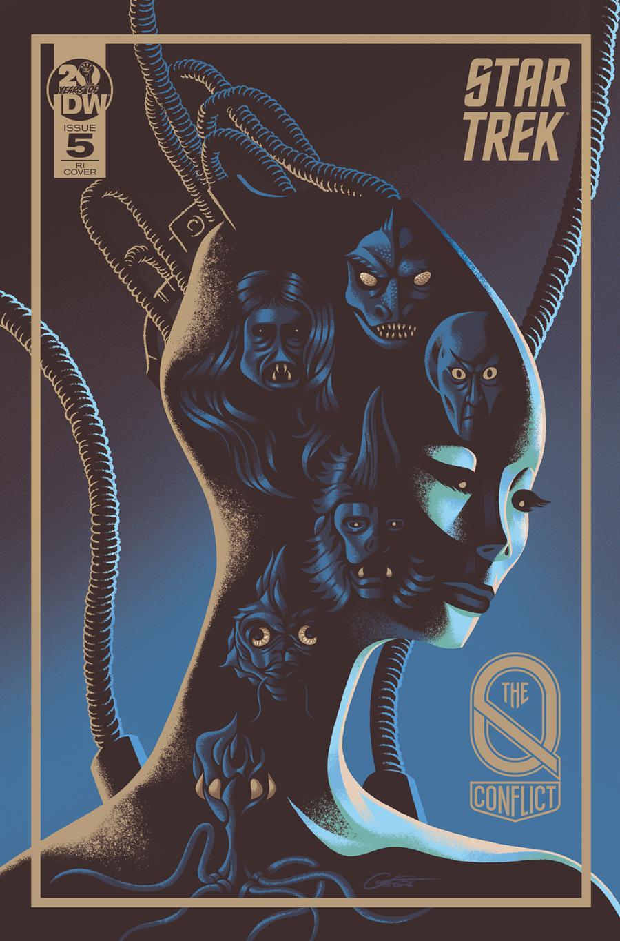 Star Trek Q Conflict #5 Cover C Incentive George Caltsoudas Variant Cover