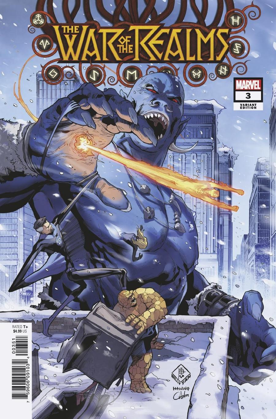 War Of The Realms #3 Cover H Incentive Billy Tan Variant Cover