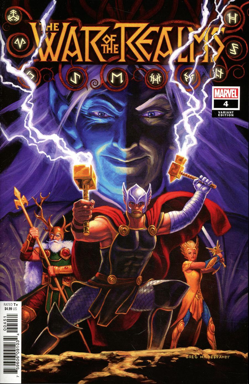 War Of The Realms #4 Cover G Incentive Greg Hildebrandt Variant Cover