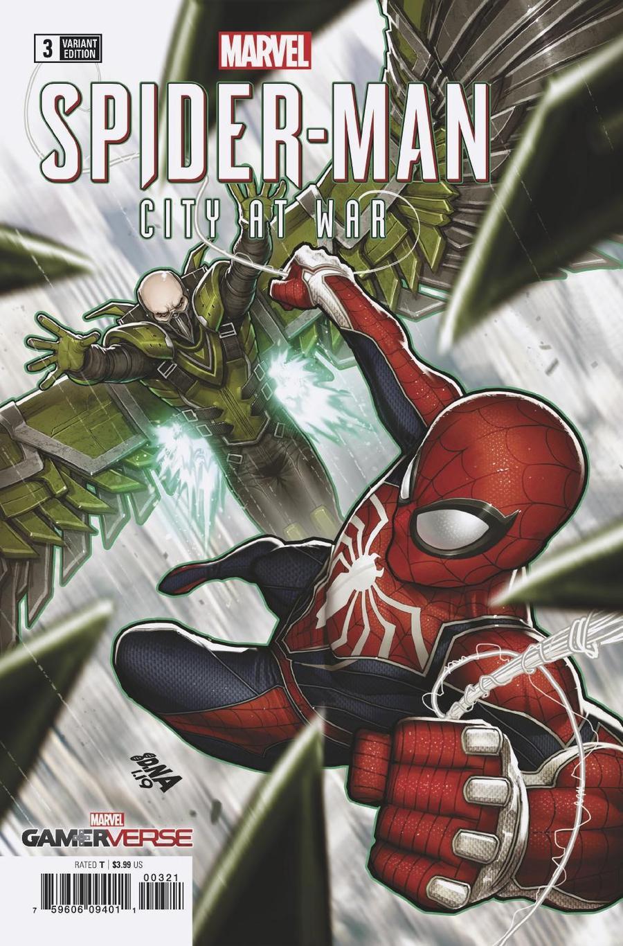Marvels Spider-Man City At War #3 Cover C Incentive David Nakayama Sinister Six Variant Cover