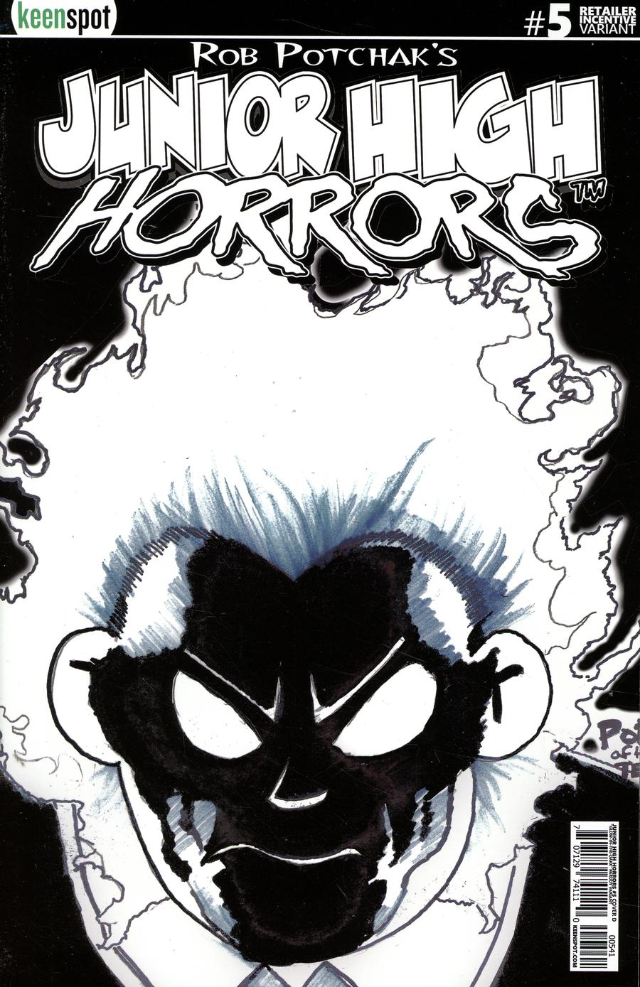 Junior High Horrors #5 Cover D Incentive Glow-In-The-Dark Variant Cover