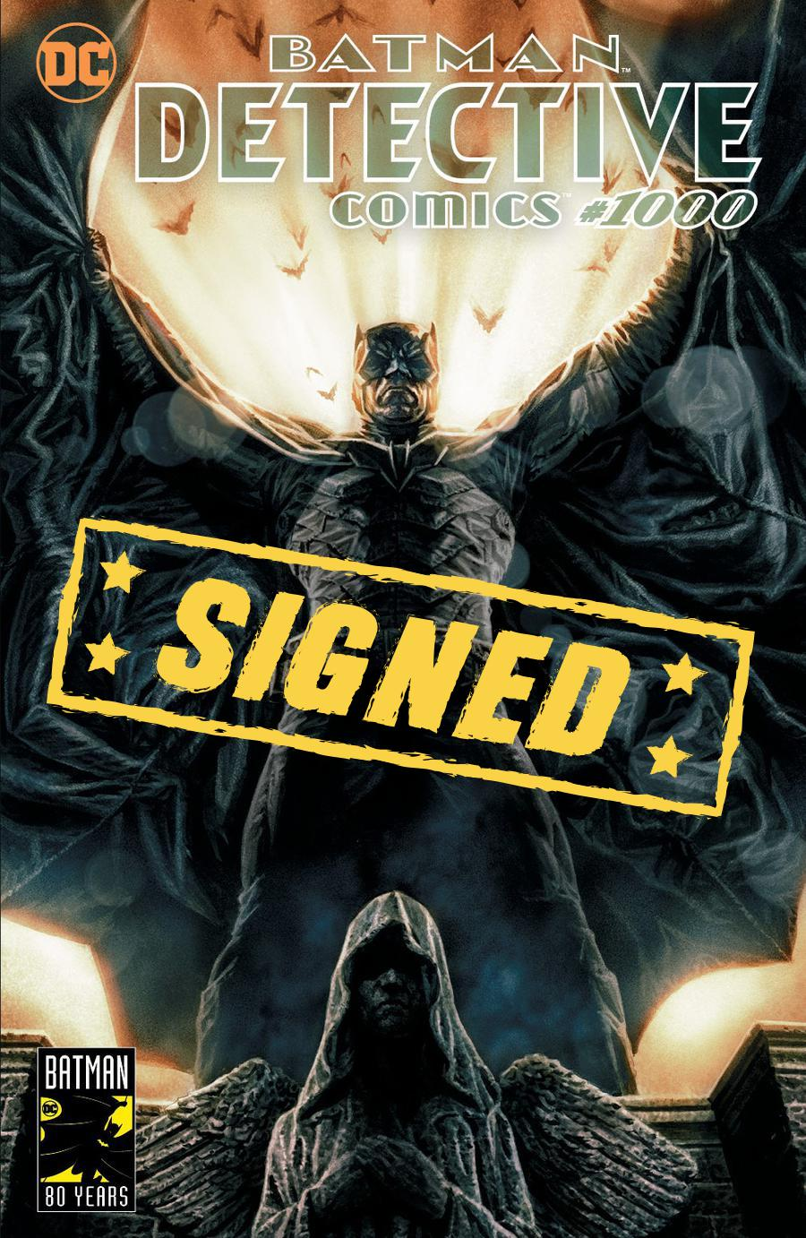 Detective Comics Vol 2 #1000  Midtown Exclusive Cover E Lee Bermejo Variant Cover Signed By Peter J Tomasi