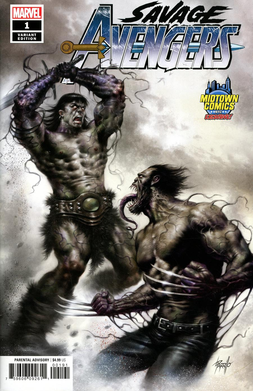 Savage Avengers #1  Midtown Exclusive Lucio Parrillo Variant Cover
