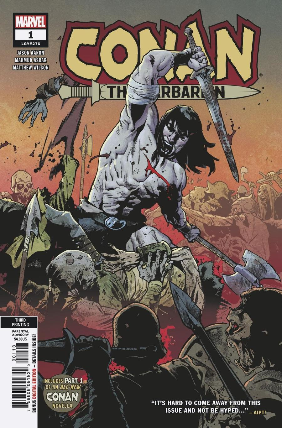 Conan The Barbarian Vol 4 #1 Cover R 3rd Ptg Variant Mahmud A Asrar Cover