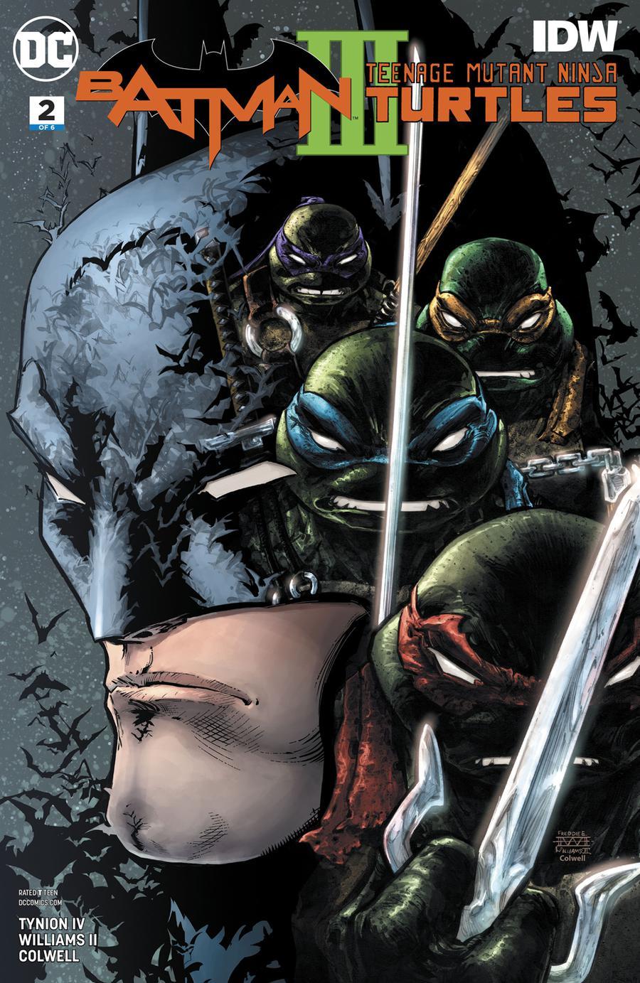 Batman Teenage Mutant Ninja Turtles III #2 Cover A Regular Freddie E Williams II Cover