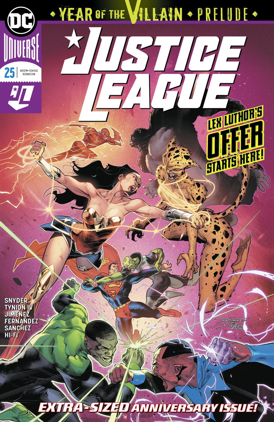 Justice League Vol 4 #25 Cover A Regular Jorge Jimenez Cover (DCs Year Of The Villian Tie-In)