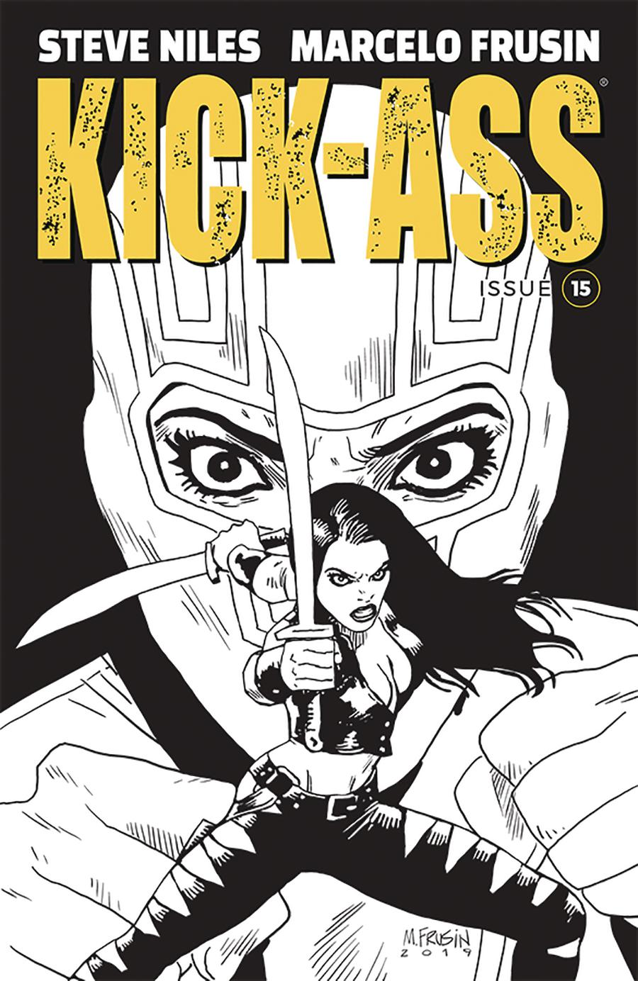 Kick-Ass Vol 4 #15 Cover B Variant Marcelo Frusin Sketch Cover