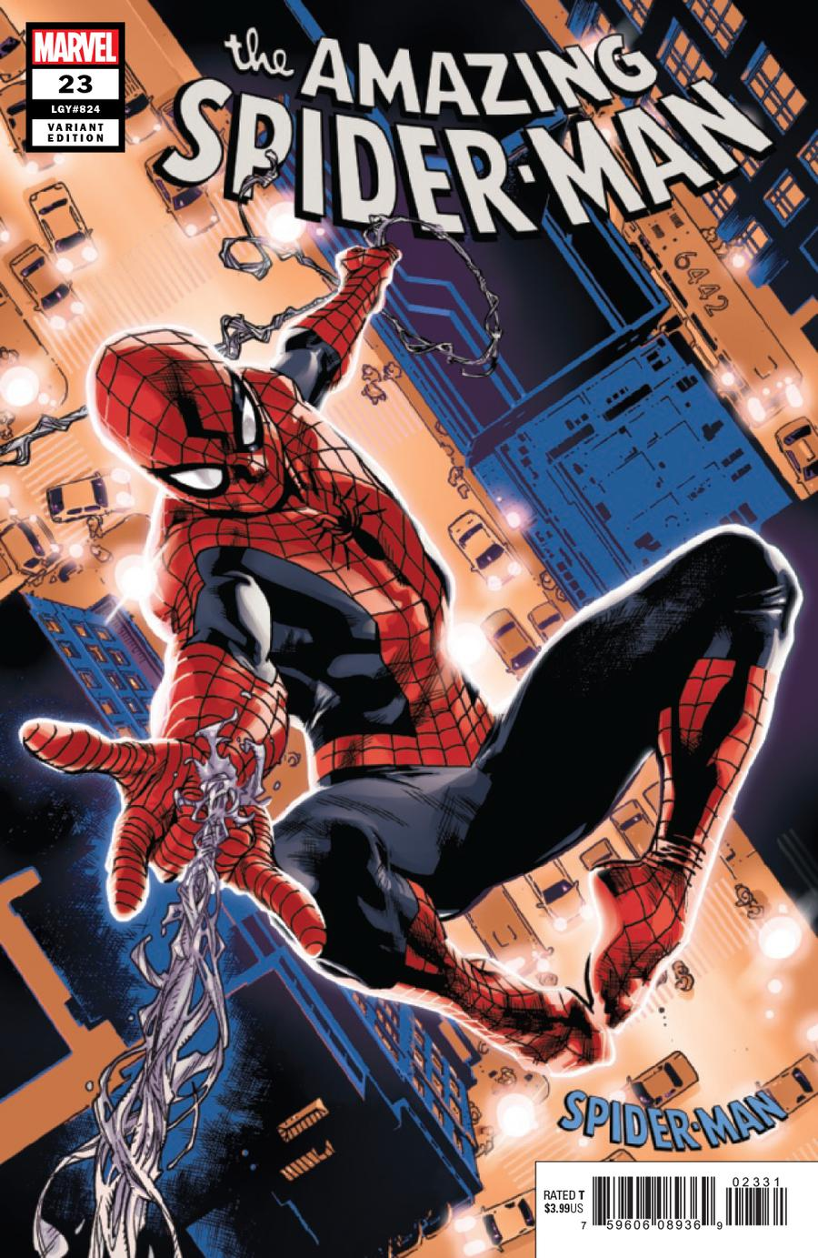 Amazing Spider-Man Vol 5 #23 Cover C Variant Stuart Immonen Spider-Man Blue And Red Suit Cover
