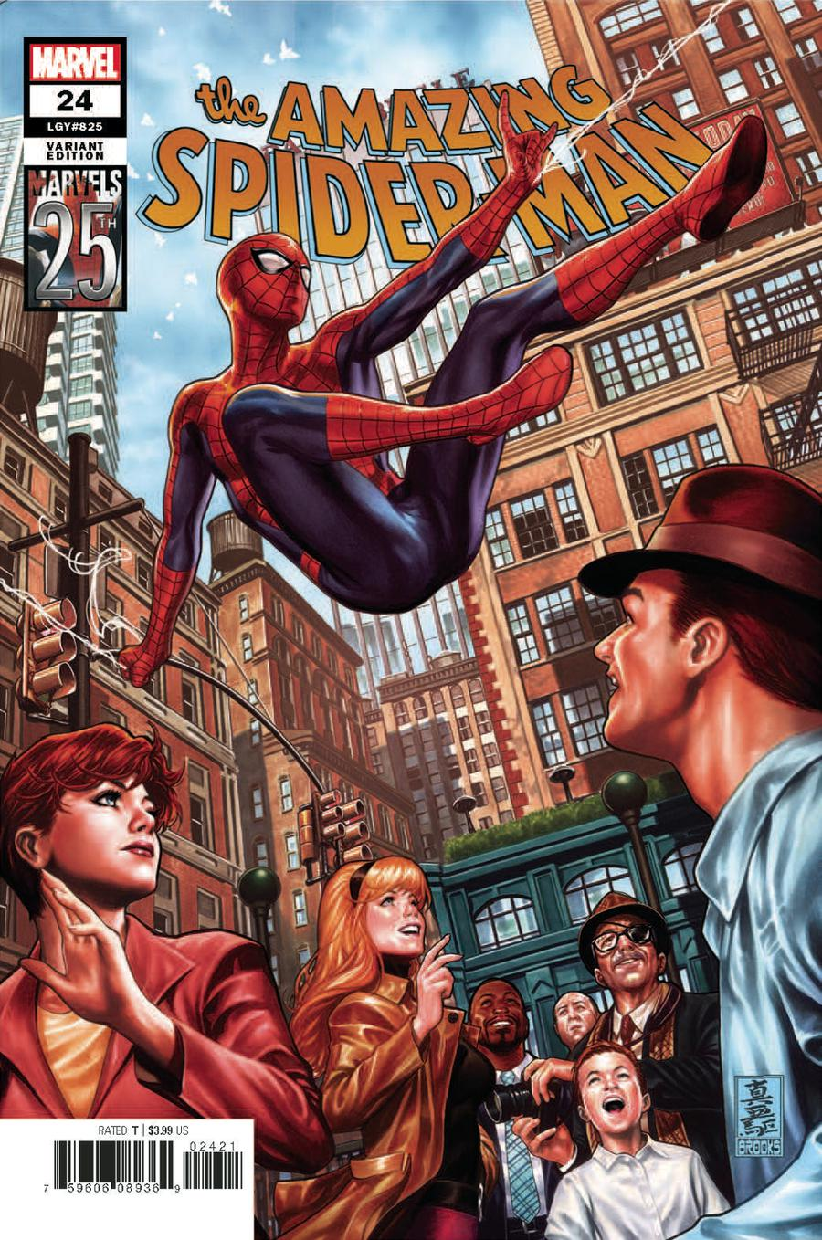 Amazing Spider-Man Vol 5 #24 Cover B Variant Mark Brooks Marvels 25th Tribute Cover
