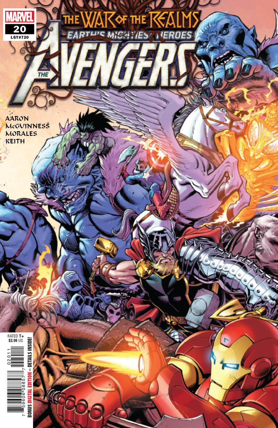 Avengers Vol 7 #20 Cover A Regular Ed McGuinness Cover (War Of The Realms Tie-In)