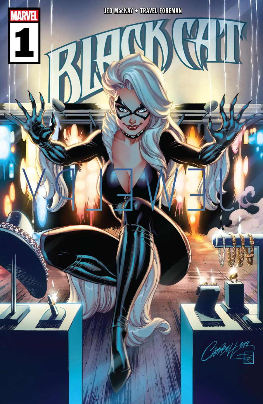 Black Cat #1 Cover A 1st Ptg Regular J Scott Campbell Cover