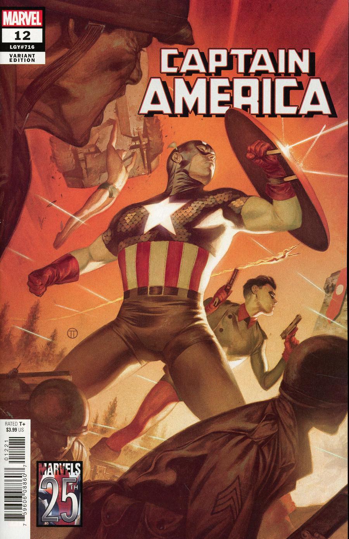 Captain America Vol 9 #12 Cover C Variant Julian Totino Tedesco Marvels 25th Tribute Cover