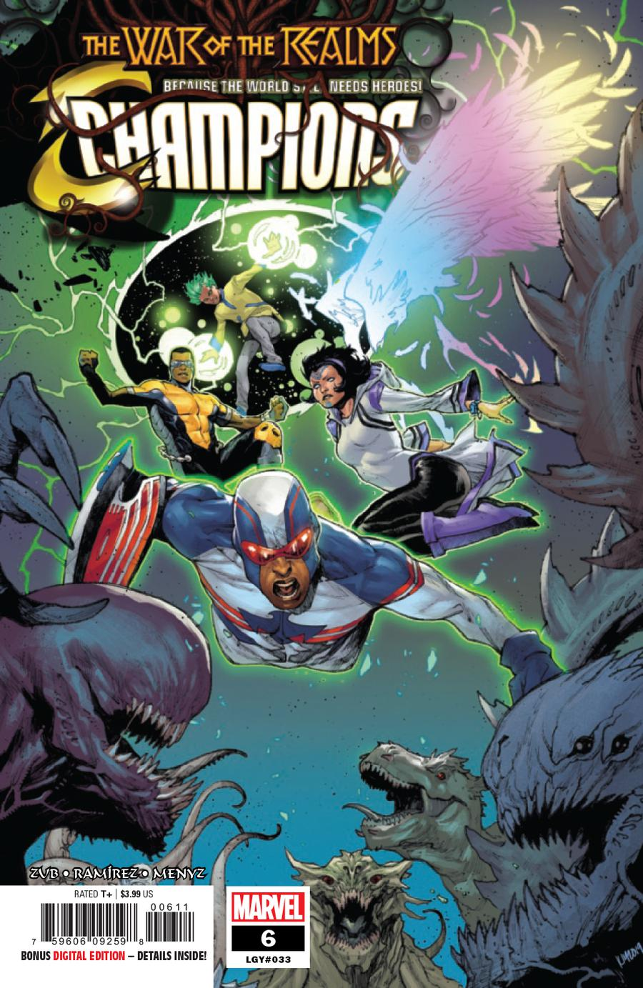 Champions (Marvel) Vol 3 #6 Cover A Regular Kim Jacinto Cover (War Of The Realms Tie-In)