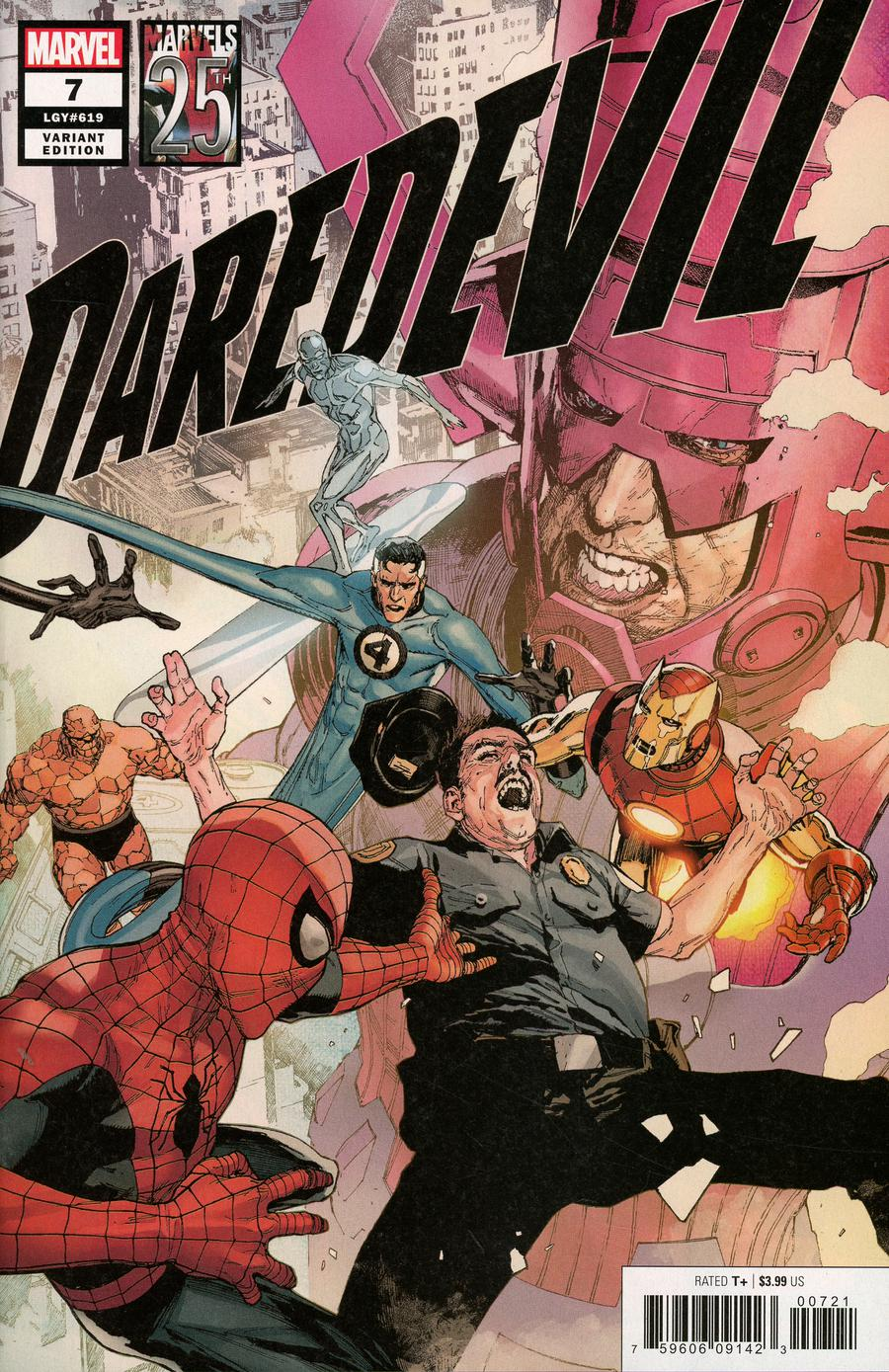 Daredevil Vol 6 #7 Cover B Variant Leinil Francis Yu Marvels 25th Tribute Cover