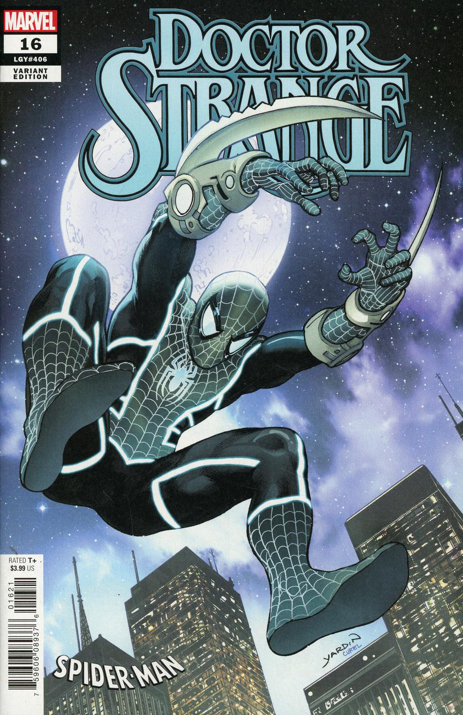Doctor Strange Vol 5 #16 Cover B Variant David Yardin Spider-Man Stealth Suit Cover