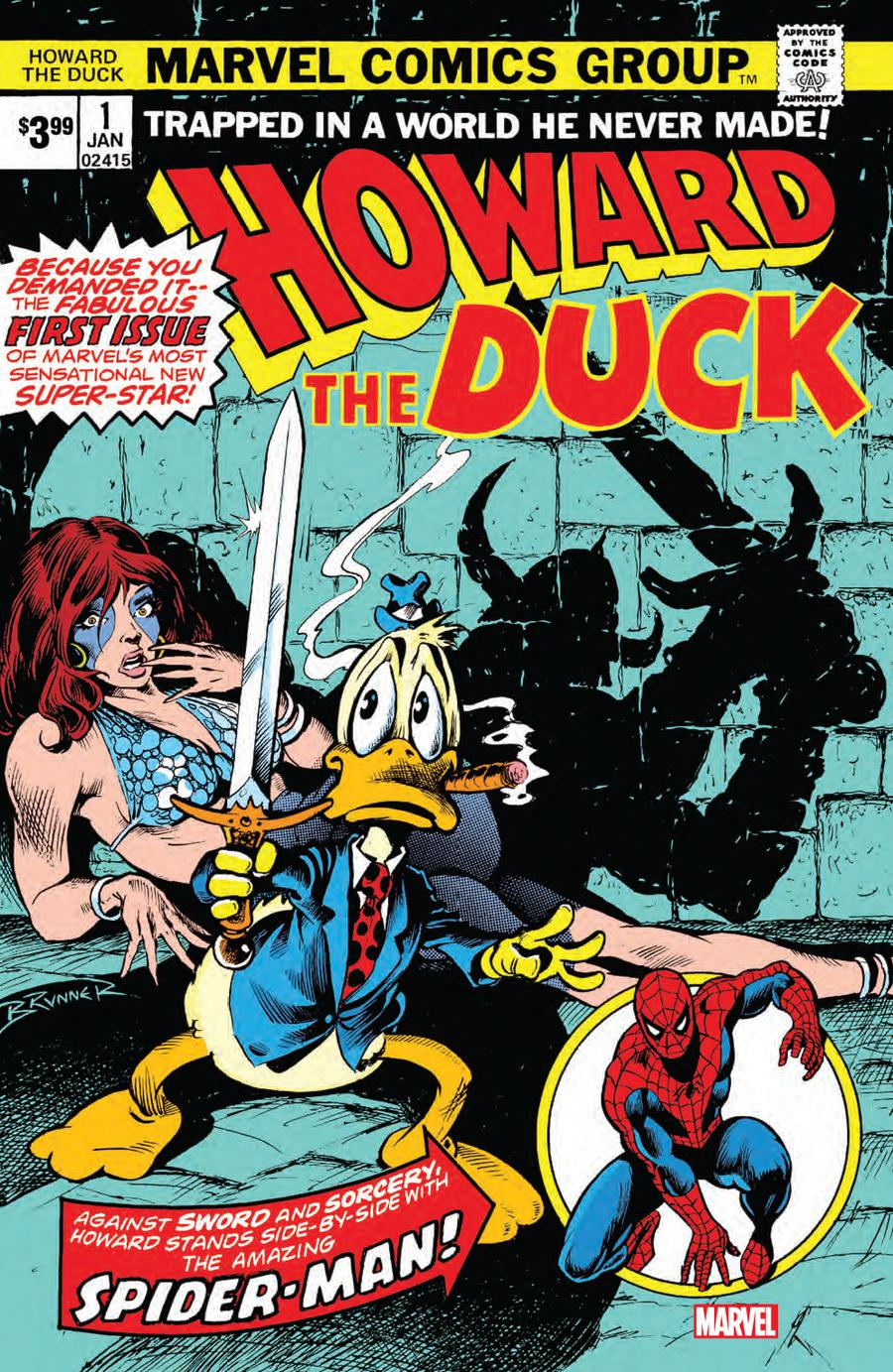 Howard The Duck Vol 1 #1 Cover B Facsimile Edition
