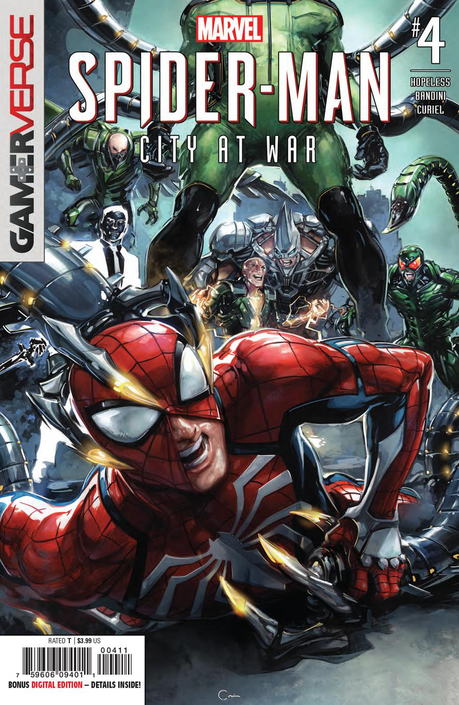 Marvels Spider-Man City At War #4 Cover A 1st Ptg Regular Clayton Crain Cover