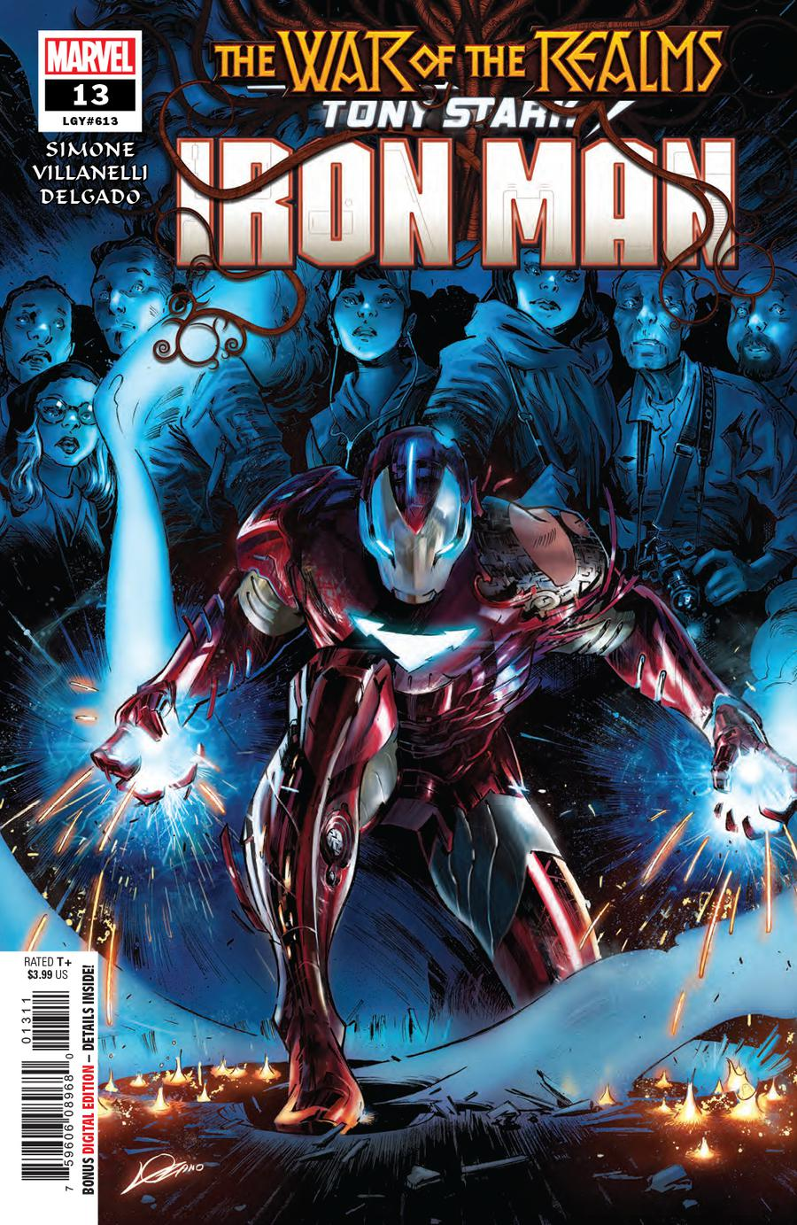 Tony Stark Iron Man #13 Cover A Regular Alexander Lozano Cover (War Of The Realms Tie-In)