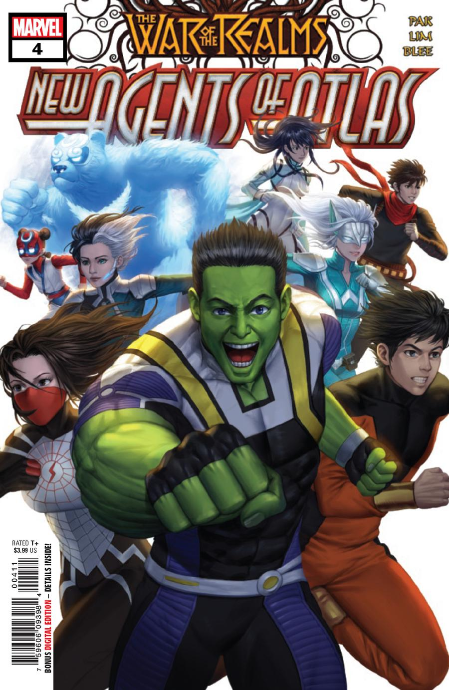 War Of The Realms New Agents Of Atlas #4 Cover A Regular Woo Dae Shim Cover