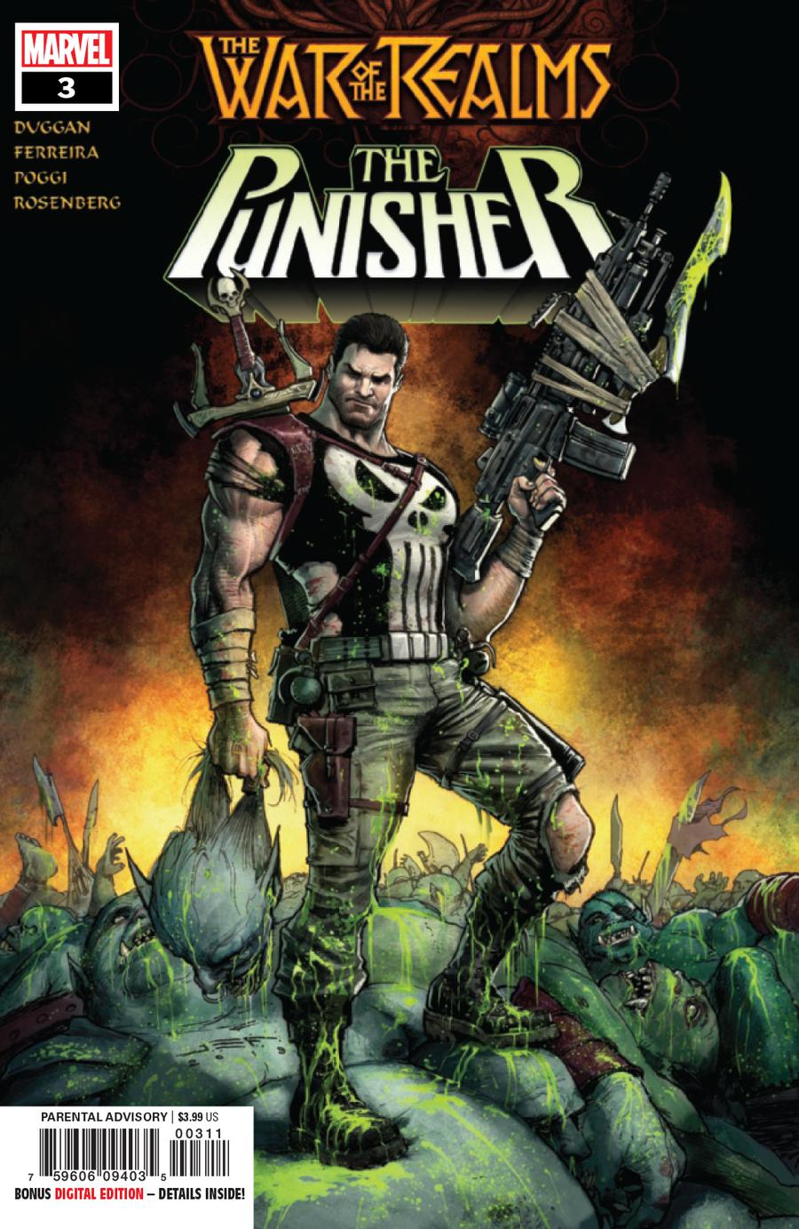 War Of The Realms Punisher #3 Cover A Regular Juan Ferreyra Cover