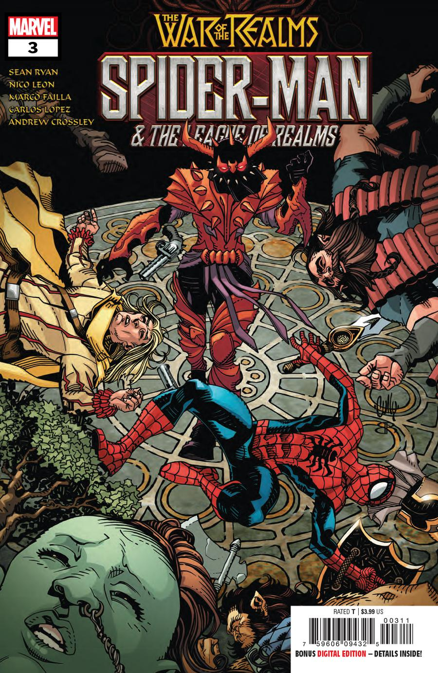 War Of The Realms Spider-Man And The League Of Realms #3 Cover A Regular Ken Lashley Cover