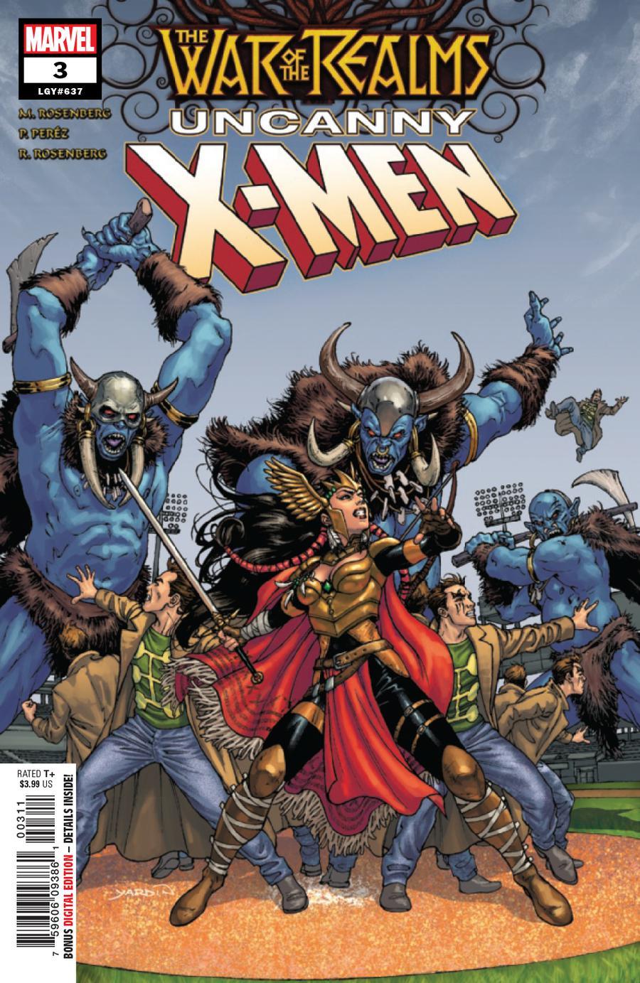 War Of The Realms Uncanny X-Men #3 Cover A Regular David Yardin Cover