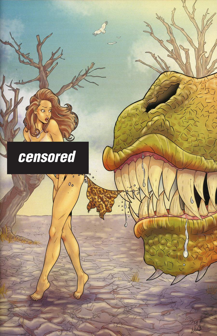 Cavewoman Riptide One Shot Cover G Variant Catia Fantini Nude Cover