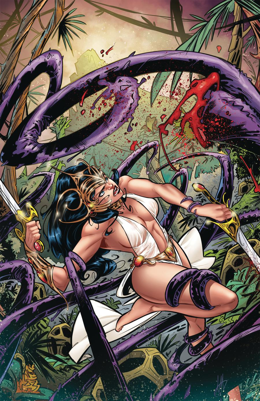 Moon Maid Catacombs Of The Moon #2 Cover C Limited Edition Alex Miracolo Virgin Cover