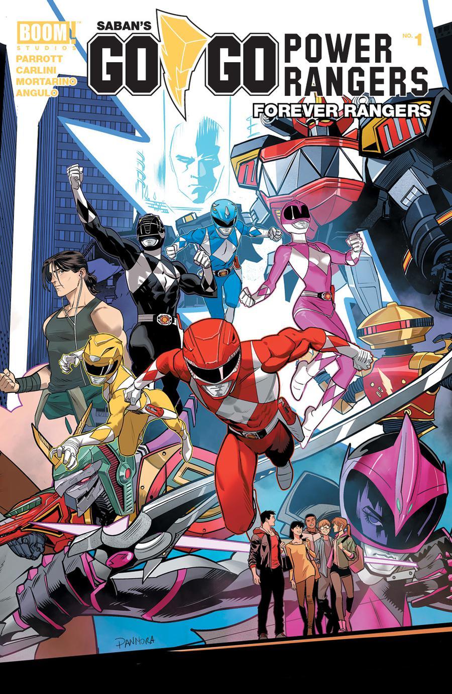 Sabans Go Go Power Rangers Forever Rangers #1 Cover A Regular Dan Mora Cover