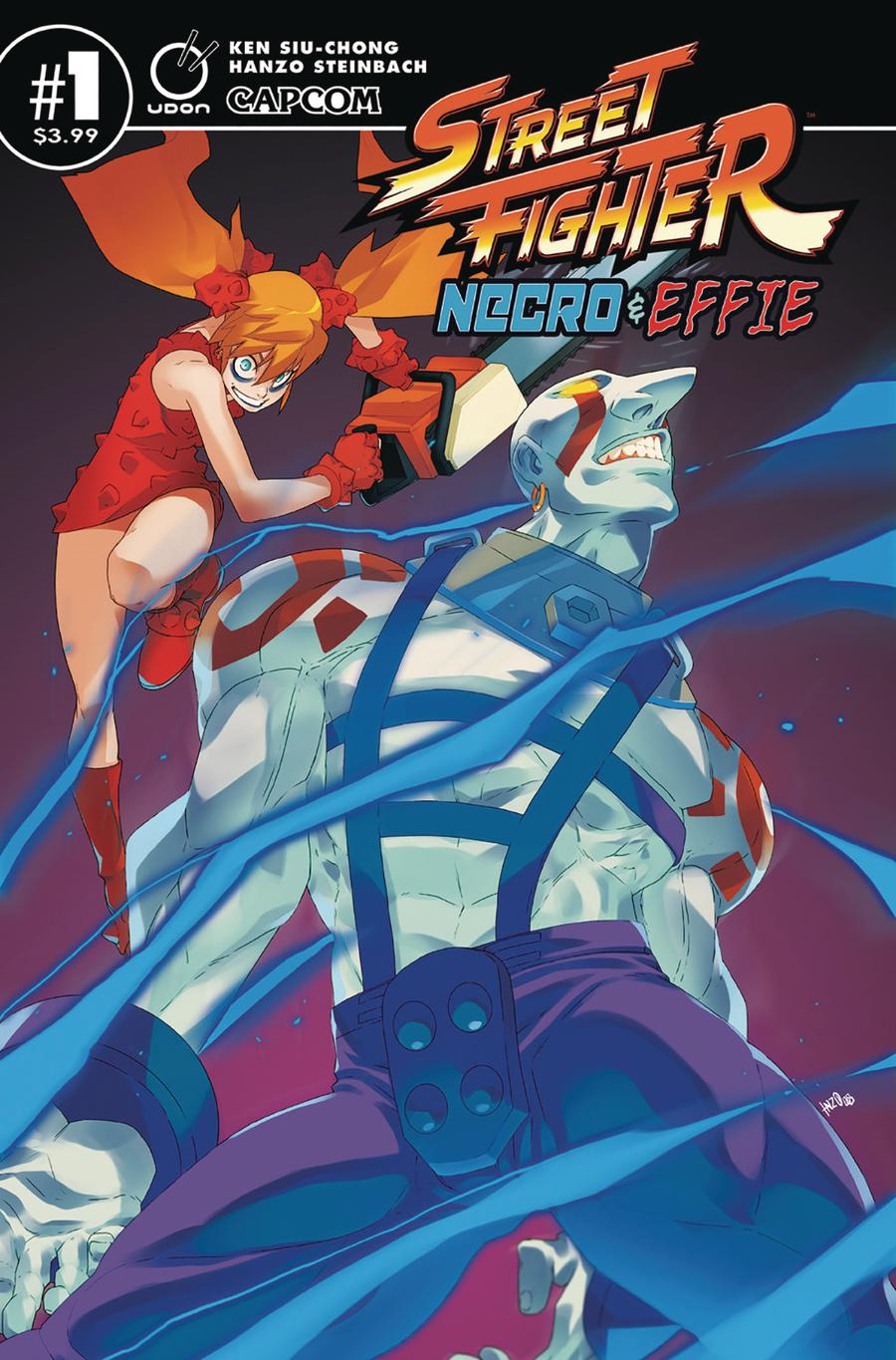 Street Fighter Necro & Effie #1 Cover A Regular Hanzo Steinbach Cover