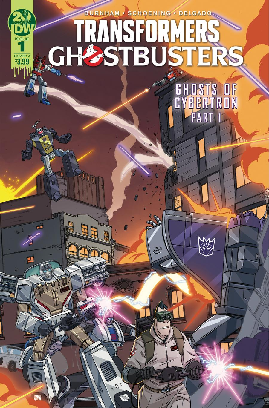 Transformers Ghostbusters #1 Cover A Regular Dan Schoening Cover