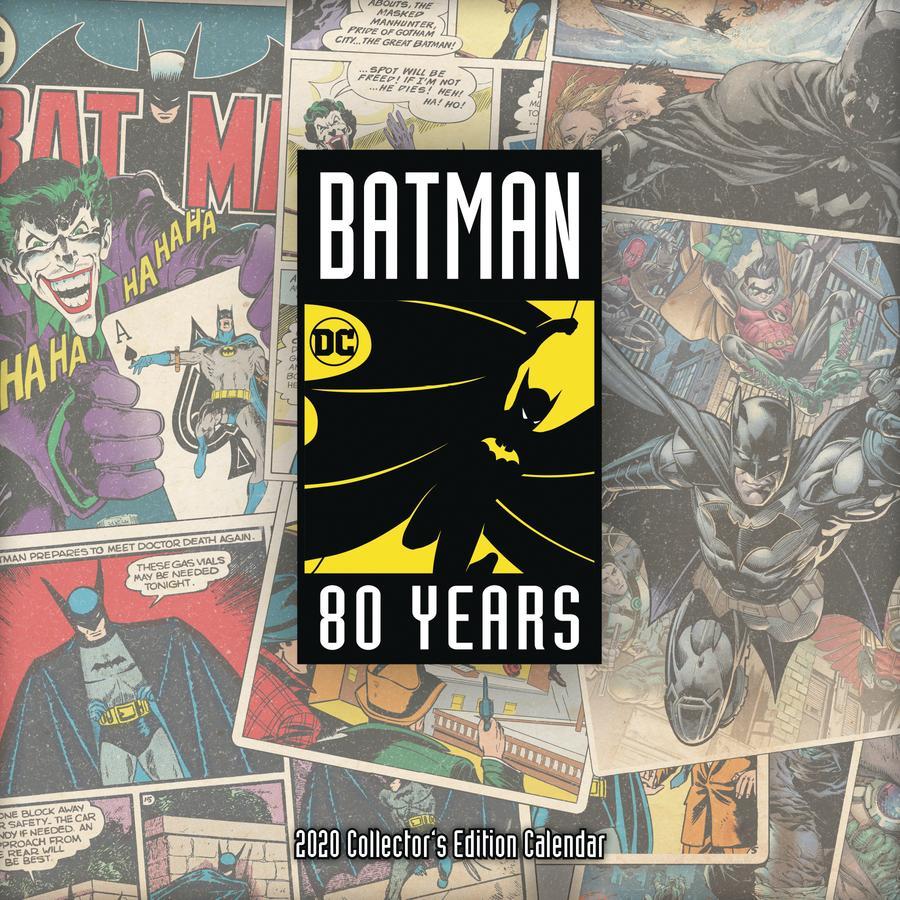 Batman 80th Anniversary Collector Edition 2020 Calendar