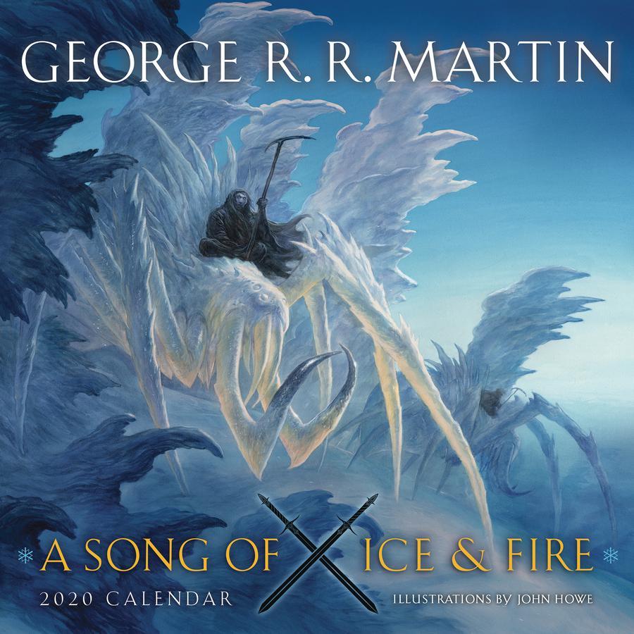 George RR Martin A Song Ice & Fire 2020 Wall Calendar