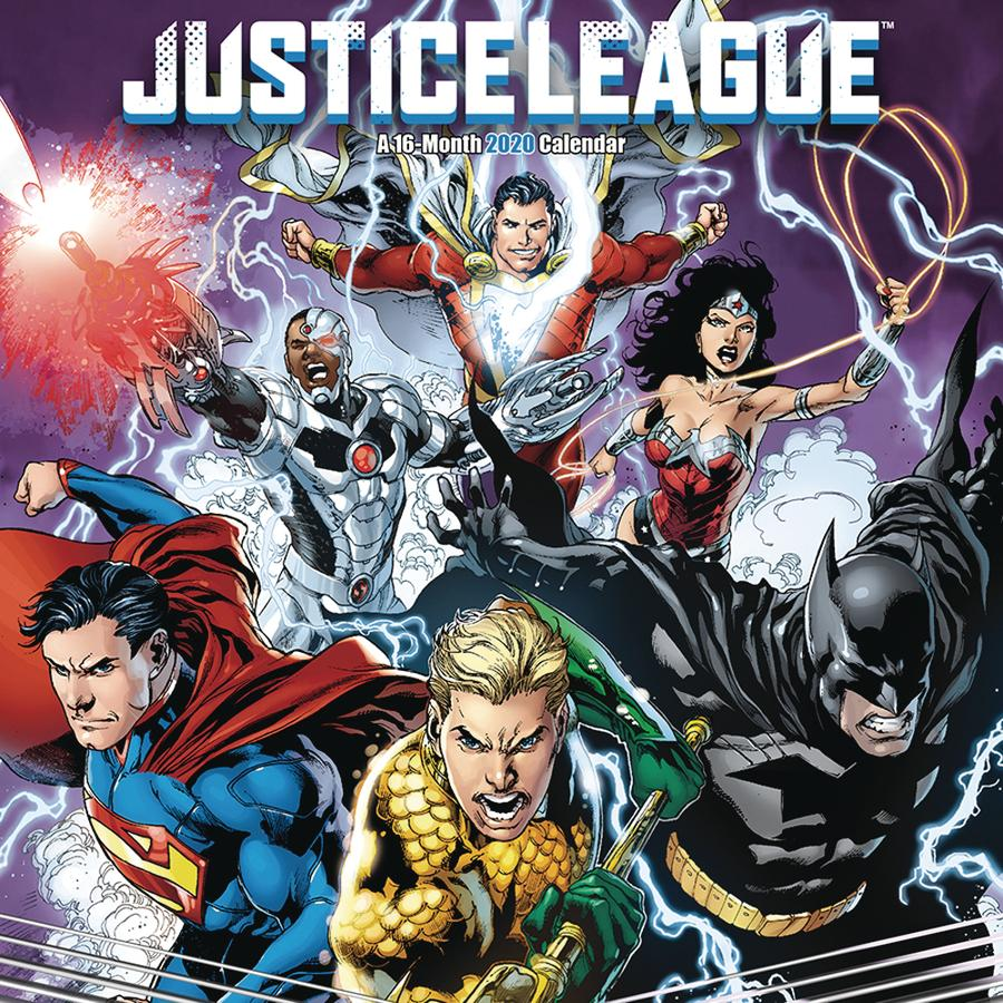 Justice League Classic 2020 Wall Calendar