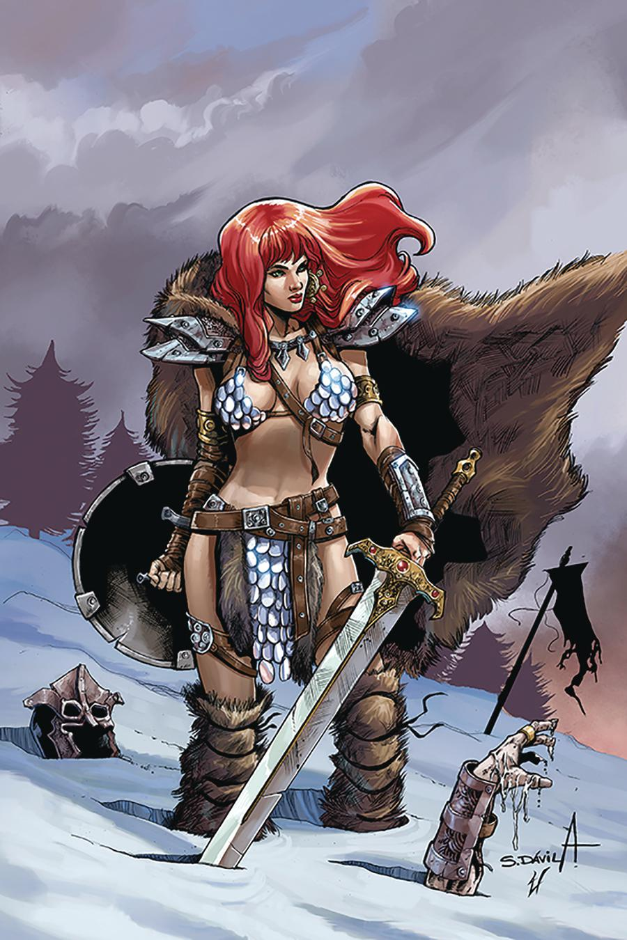 Red Sonja Birth Of The She-Devil #1 Cover D Incentive Sergio Davila Virgin Cover