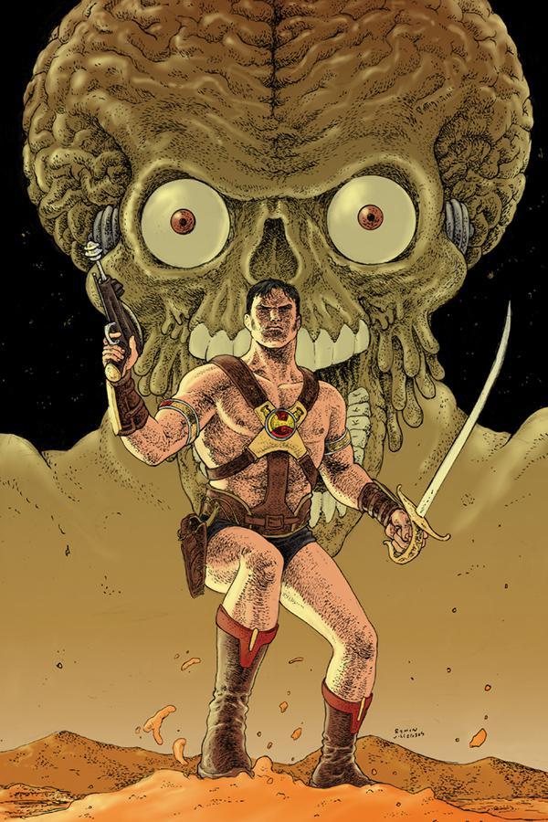 Warlord Of Mars Attacks #1 Cover F Incentive Ramon Villalobos Virgin Cover