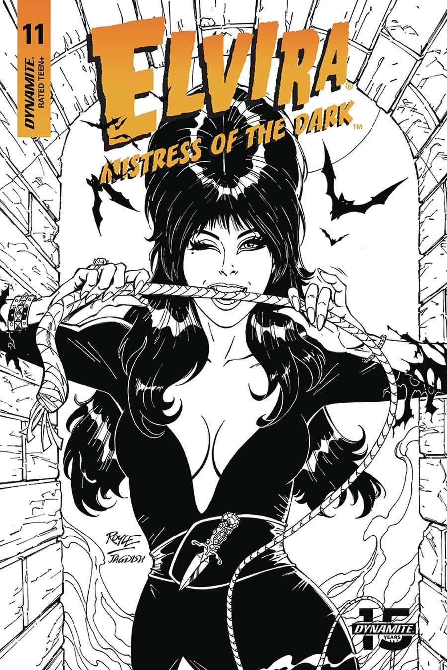 Elvira Mistress Of The Dark Vol 2 #11 Cover I Incentive John Royle Black & White Cover