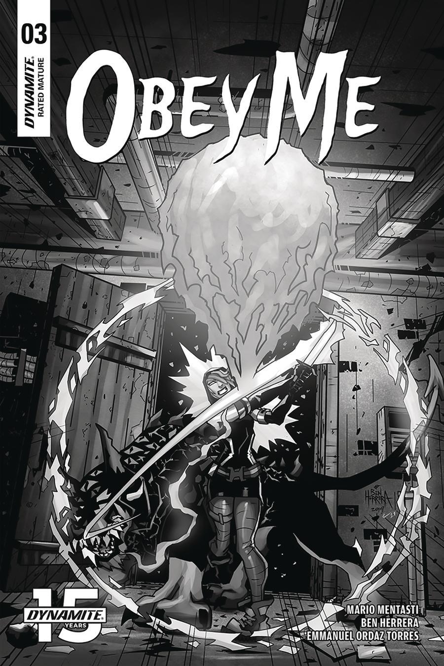 Obey Me #3 Cover B Incentive Ben Herrera Black & White Cover
